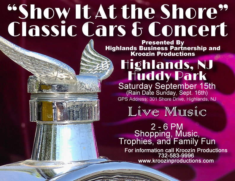 "Highlands Classic Cars & Concert ""Show It At the Shore"""