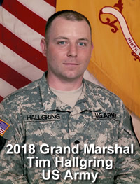 2018 Grand Marshal Tim Hallgring US Army